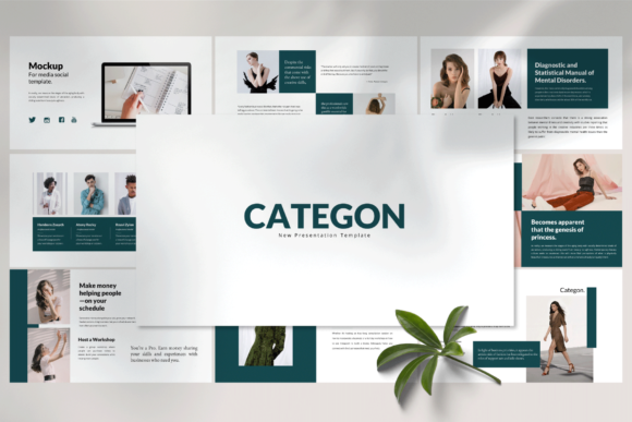 Categon - PowerPoint Template Graphic Presentation Templates By balyastd