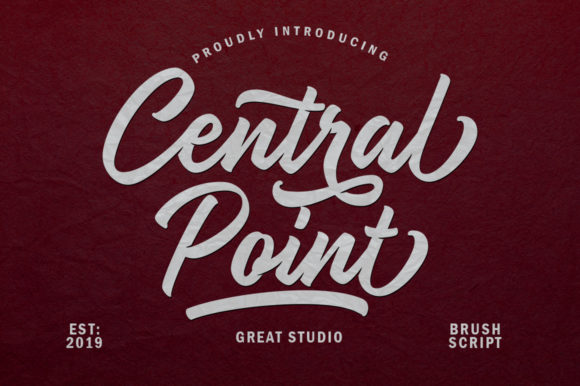 Print on Demand: Central Point Manuscrita Fuente Por Great Studio