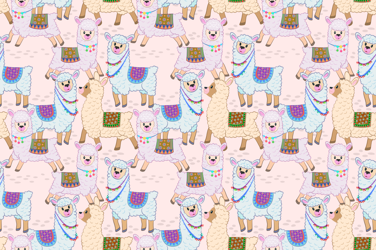 Download Free Cute Alpaca Seamless Pattern Graphic By Ranger262 Creative Fabrica for Cricut Explore, Silhouette and other cutting machines.