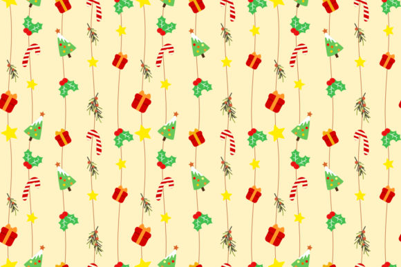 Download Free Cute Christmas Elements Seamless Pattern Graphic By Thanaporn for Cricut Explore, Silhouette and other cutting machines.