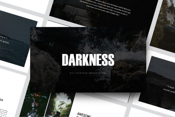 Print on Demand: Darkness - Google Slides Template Graphic Presentation Templates By balyastd