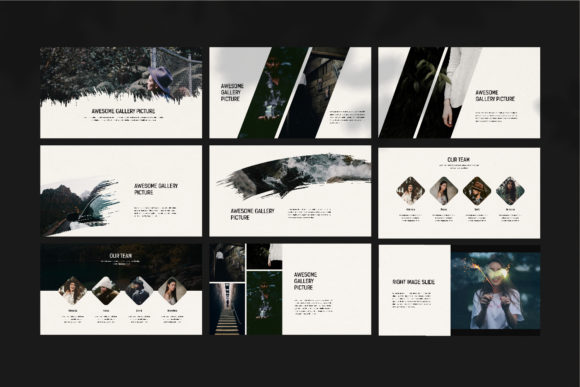 Darkness - PowerPoint Template Graphic Presentation Templates By balyastd - Image 10