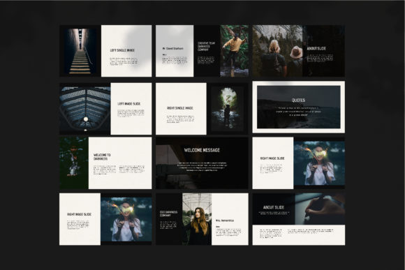 Darkness - PowerPoint Template Graphic Presentation Templates By balyastd - Image 11