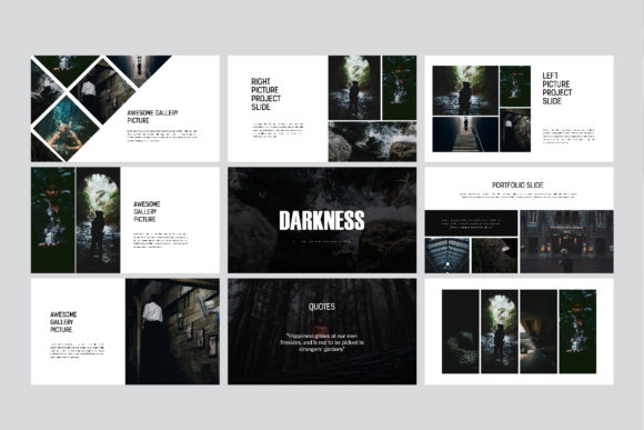 Darkness - PowerPoint Template Graphic Presentation Templates By balyastd - Image 9