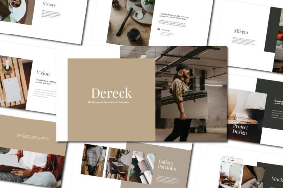Dereck - Google Slides Template Graphic Presentation Templates By balyastd