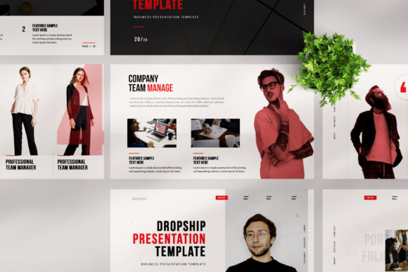 Dropship - PowerPoint Template Graphic Presentation Templates By balyastd