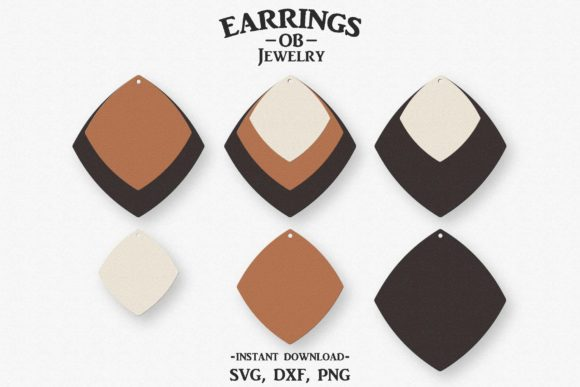 Download Free Earring Stacked Earrings Cut File Graphic By Designtime2019 for Cricut Explore, Silhouette and other cutting machines.