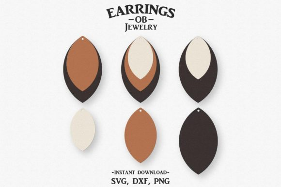 Earring, Stacked Teardrop, Cut File Graphic Crafts By designtime2019