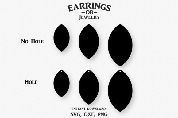 Download Free Earring Stacked Teardrop Cut File Graphic By Designtime2019 SVG Cut Files