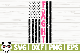 Download Free Fight Breast Cancer Awareness Flag Graphic By Creativedesignsllc for Cricut Explore, Silhouette and other cutting machines.