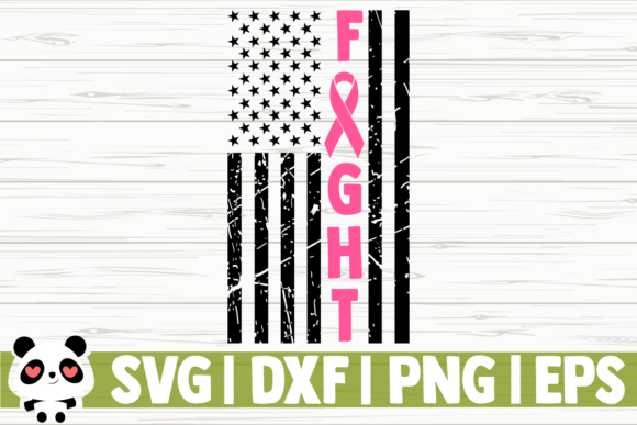 Print on Demand: Fight Breast Cancer Awareness Flag Graphic Illustrations By CreativeDesignsLLC