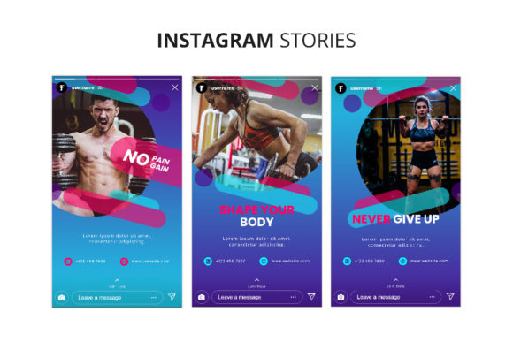 Download Free Fitness Instagram Stories Graphic By Formatikastd Creative Fabrica for Cricut Explore, Silhouette and other cutting machines.