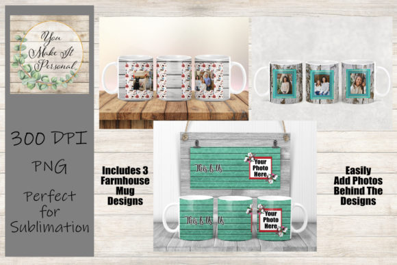 Print on Demand: Full Wrap Sublimation Mug Designs Graphic Print Templates By You Make It Personal