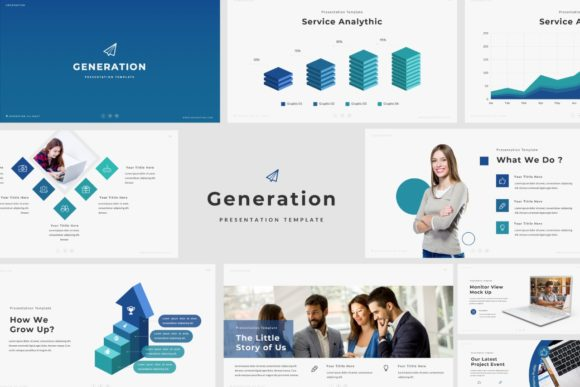 Download Free Generation Google Slides Template Graphic By Balyastd for Cricut Explore, Silhouette and other cutting machines.