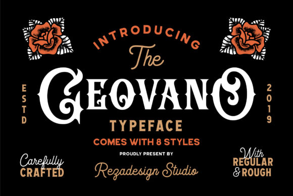 Print on Demand: Geovano Display Font By RezaDesign