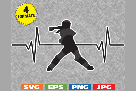 Download Free Girls Softball Catcher Heartbeat Graphic Graphic By for Cricut Explore, Silhouette and other cutting machines.