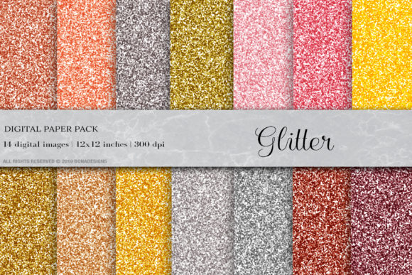 Glitter Digital Papers Graphic Textures By BonaDesigns - Image 1