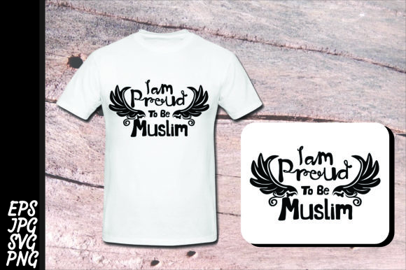 Print on Demand: I Am Proud to Be Muslim SVG Graphic Crafts By Arief Sapta Adjie II