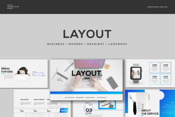 Layout - PowerPoint Template Graphic Presentation Templates By balyastd - Image 1