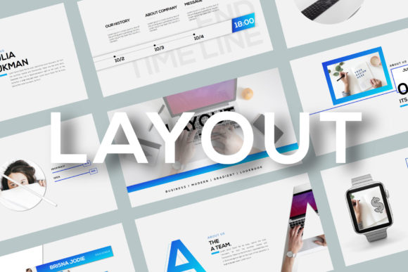 Layout - PowerPoint Template Graphic Presentation Templates By balyastd - Image 2