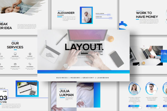 Layout - PowerPoint Template Graphic Presentation Templates By balyastd - Image 3