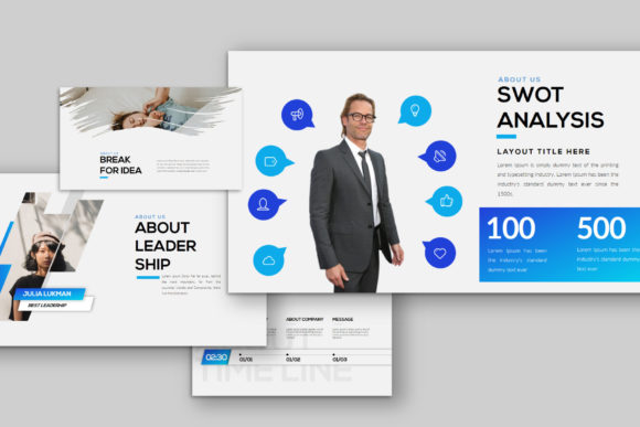 Layout - PowerPoint Template Graphic Presentation Templates By balyastd - Image 4