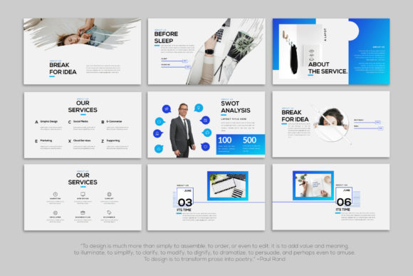 Layout - PowerPoint Template Graphic Presentation Templates By balyastd - Image 9