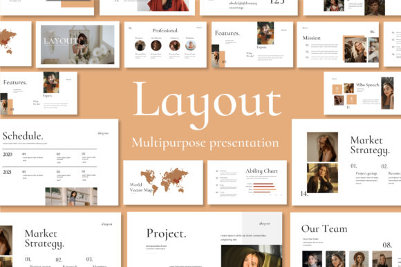 Layout Vol.2 Google Slides Template Graphic Presentation Templates By balyastd - Image 1