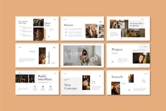 Layout Vol.2 Google Slides Template Graphic Presentation Templates By balyastd - Image 6