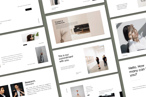 Print on Demand: Lineup - Google Slides Template Graphic Presentation Templates By balyastd