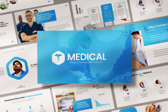 Download Free Medical Powerpoint Template Graphic By Balyastd Creative Fabrica SVG Cut Files