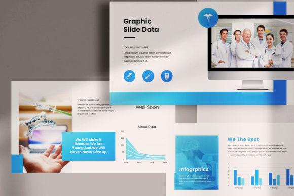 Download Free Medical Powerpoint Template Graphic By Balyastd Creative Fabrica for Cricut Explore, Silhouette and other cutting machines.