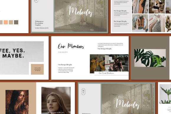 Melody - Google Slides Template Graphic Presentation Templates By balyastd - Image 2