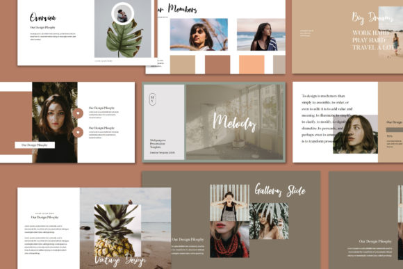 Melody - Google Slides Template Graphic Presentation Templates By balyastd - Image 3