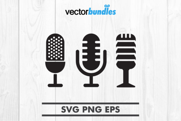 Download Free Mic Clip Art Graphic By Vectorbundles Creative Fabrica for Cricut Explore, Silhouette and other cutting machines.