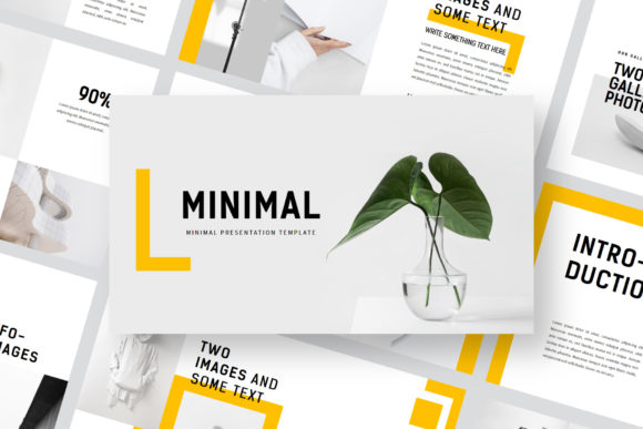Minimal - PowerPoint Template Graphic Presentation Templates By balyastd