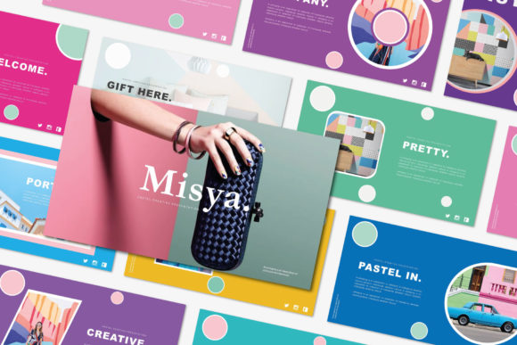 Download Free Misya Powerpoint Template Graphic By Balyastd Creative Fabrica for Cricut Explore, Silhouette and other cutting machines.
