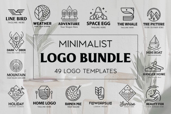 Monoline Logo Template Bundle Graphic Logos By Arterfak Project