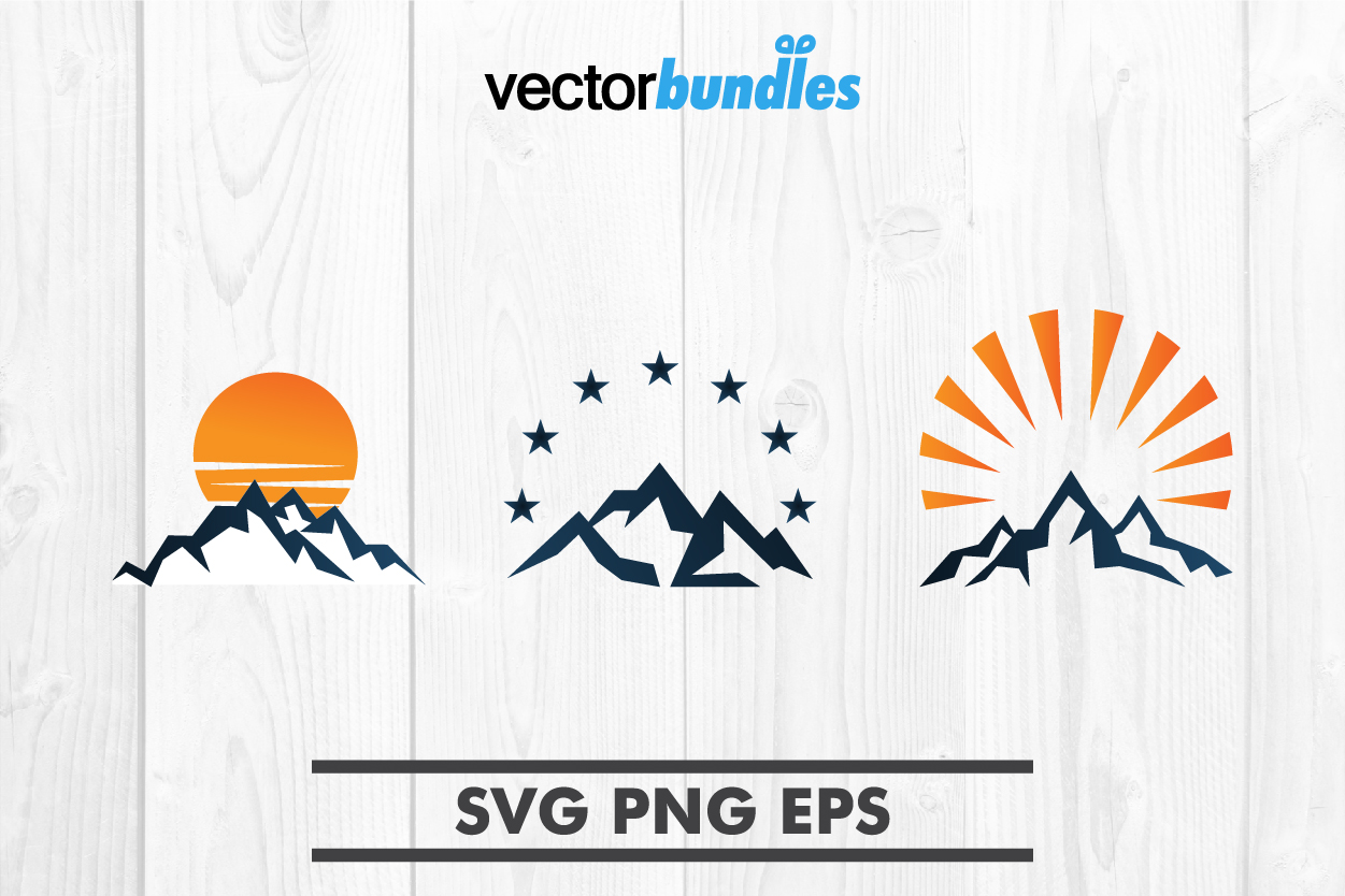 Download Free Mountain Clip Art Graphic By Vectorbundles Creative Fabrica for Cricut Explore, Silhouette and other cutting machines.