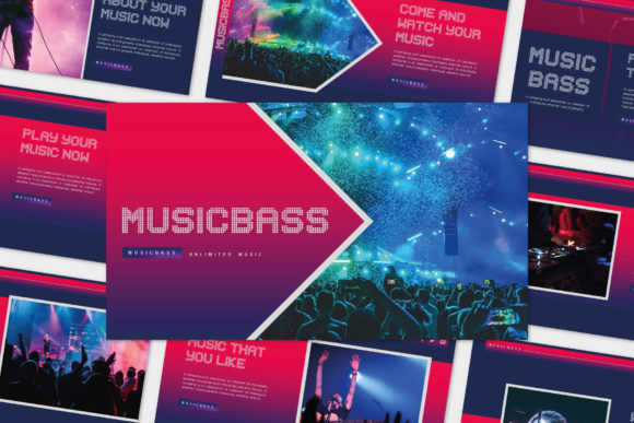 Print on Demand: Musicbass - Google Slides Template Graphic Presentation Templates By balyastd