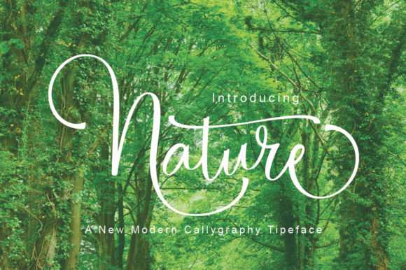 Print on Demand: Nature Manuscrita Fuente Por parawtype