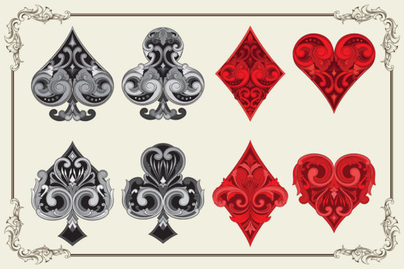 Ornament Playing Card Graphic Illustrations By Alit Design