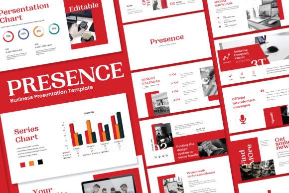 Presence - PowerPoint Template Graphic Presentation Templates By balyastd