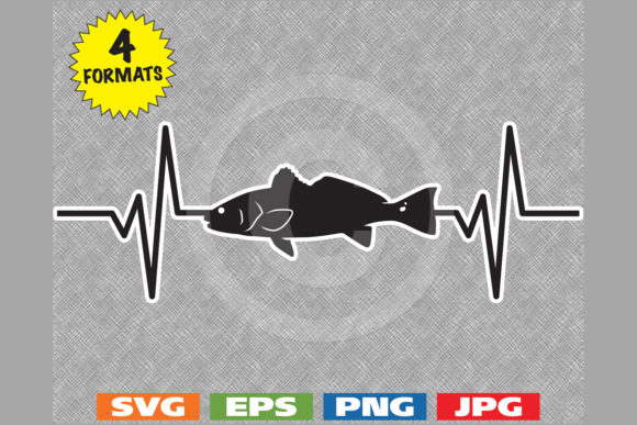 Download Free Redfish Fishing Heartbeat Graphic Graphic By Idrawsilhouettes for Cricut Explore, Silhouette and other cutting machines.