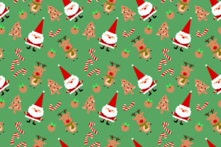 Santa And Christmas Cookie Seamless Graphic By Thanaporn Pinp