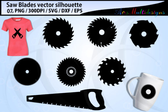 Print on Demand: Saw Blades Graphics Graphic Illustrations By Arcs Multidesigns