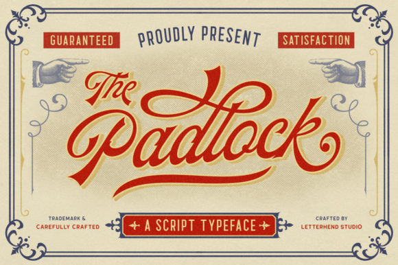 Print on Demand: The Padlock Script & Handwritten Font By letterhend