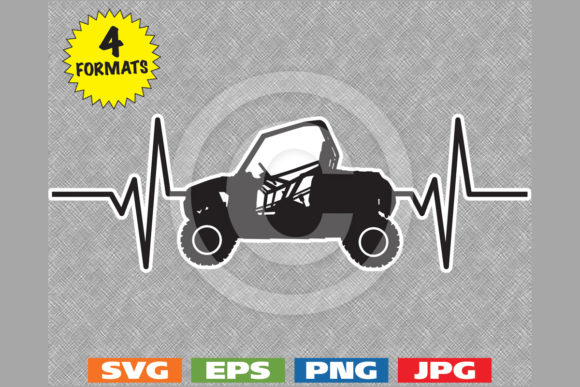UTV Heartbeat Graphic Graphic Illustrations By iDrawSilhouettes