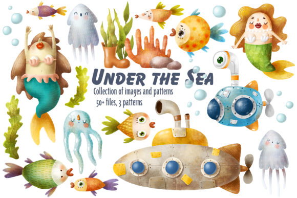 Print on Demand: Undersea World Clipart Graphic Illustrations By Architekt_AT