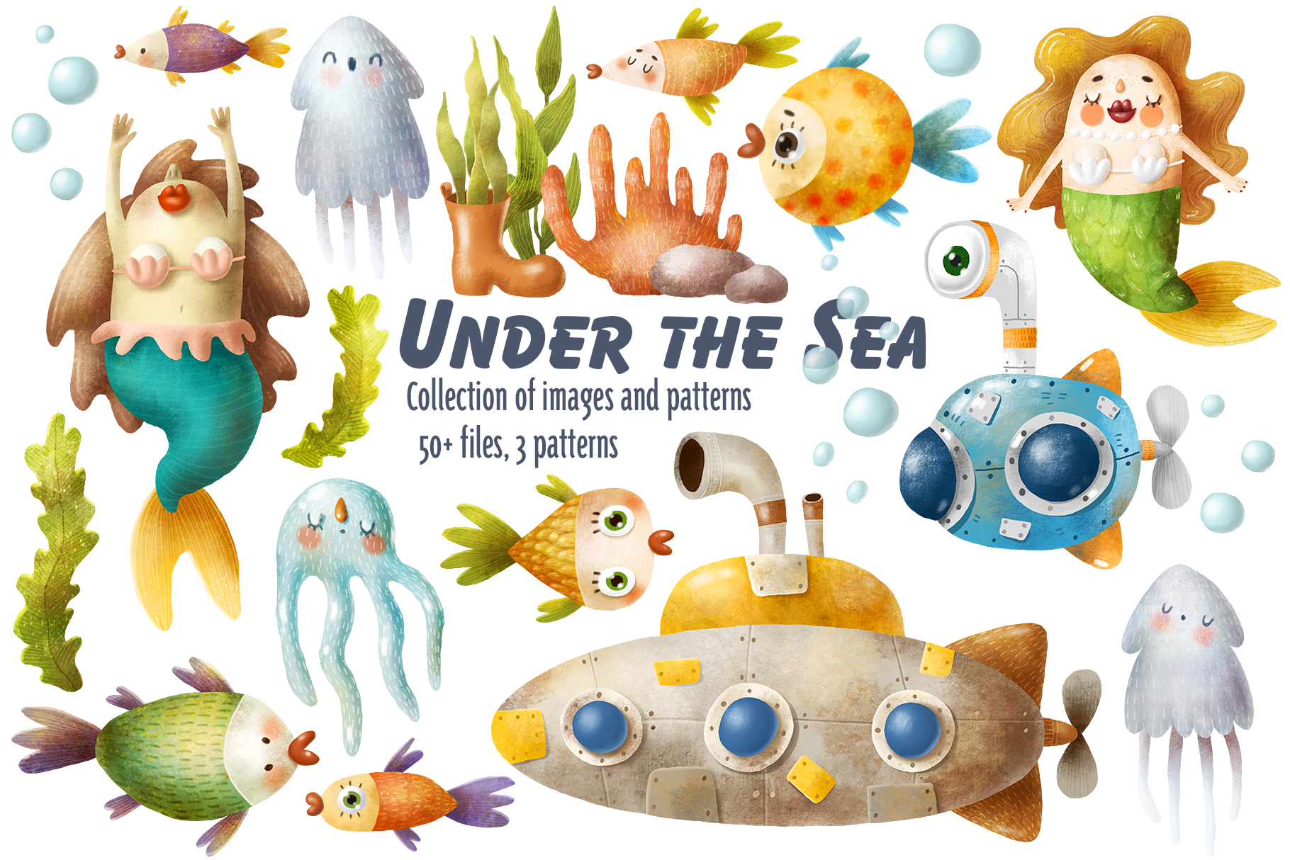 Download Free Undersea World Clipart Graphic By Architekt At Creative Fabrica for Cricut Explore, Silhouette and other cutting machines.